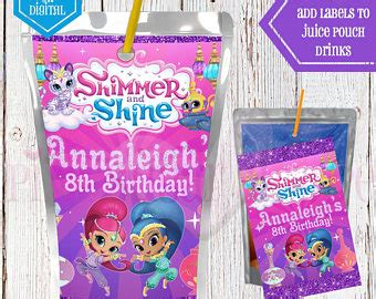 Shimmer For In This New Like Label by Shimmer And Shine Etsy
