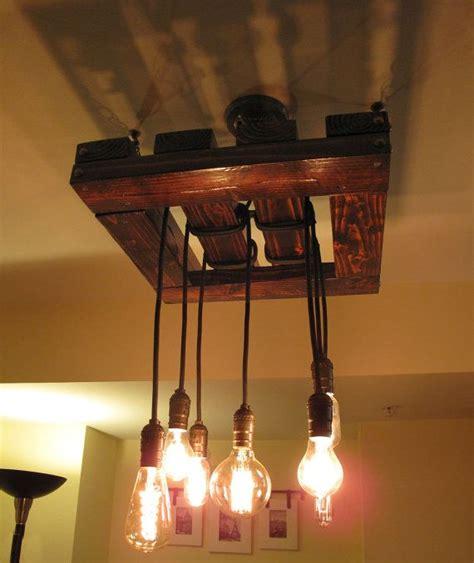 edison bulb ceiling light fixtures edison bulb chandelier beautiful rustic wood light