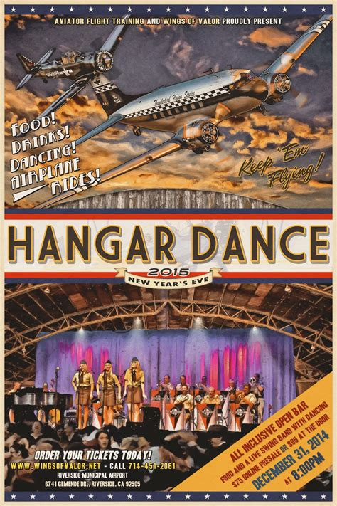 new year in riverside ca new years wwii hangar swing tickets in