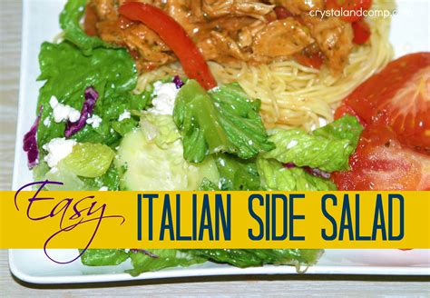 easy salad recipe salad recipes italian side salad
