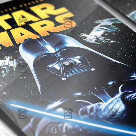 template wars wars free club and flyer psd template