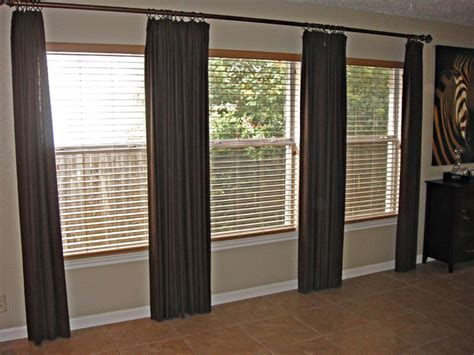 long curtain rod without center support draperies with rod contemporary curtain rods dallas