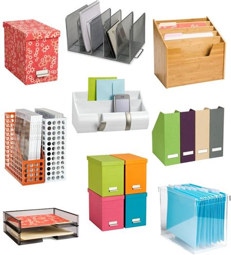 Desk Organization Supplies 9 Tools To Organize Paperwork And Files Organizing Organizations And Office Organisation