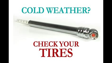 cold weather check  tires youtube