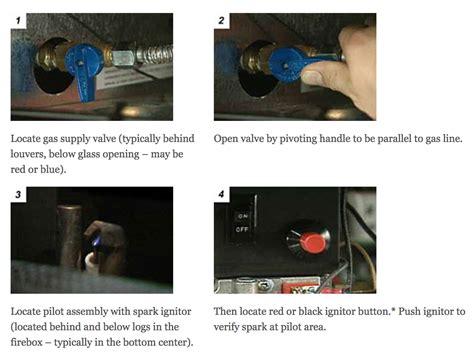 how to turn on pilot light gas fireplace pilot light turn lighting ideas