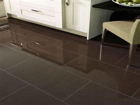 Cream kitchens white tile, polished brown porcelain tile