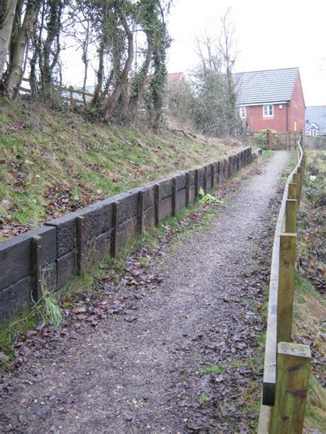 Retaining Wall Railway Sleepers by Railway Sleepers Retaining Wall 169 Michael Westley