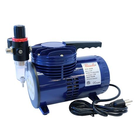 paasche 1 4 hp diaphragm compressor with regulator d220r the home depot