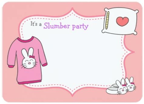 slumber party invitation template invitations online