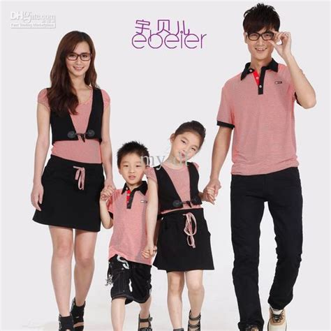 family clothes fashion summer family set clothes for mother and daughter