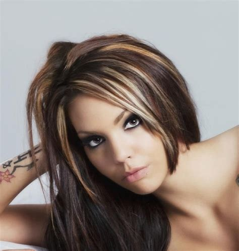 chunking highlights dark hair pictures 102 best images about funky hair colors streaks