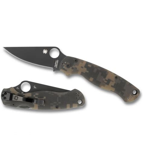 spyderco paramilitary 2 camo review spyderco paramilitary 2 g 10 camo plain black blade