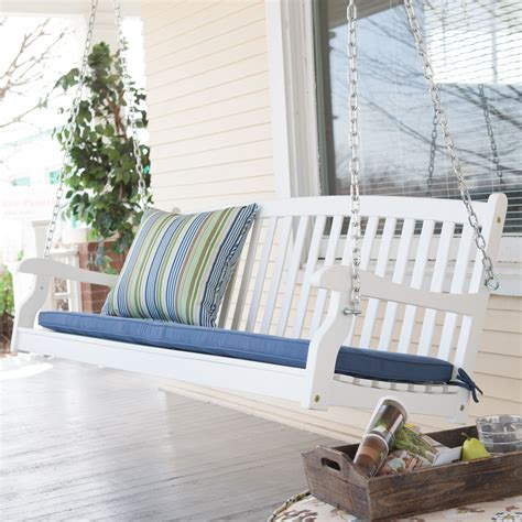 white porch swings coral coast pleasant bay all weather curved back acacia