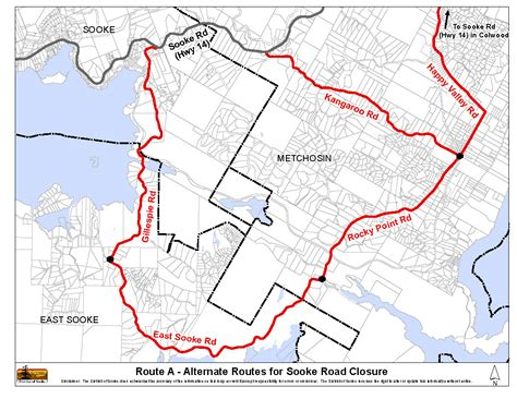 road closures map road closure maps welcome to the district of sooke
