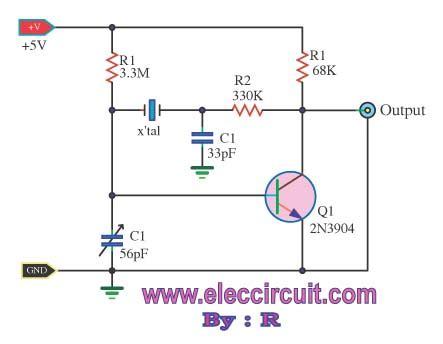 pulse generator oscillator 32 768khz by