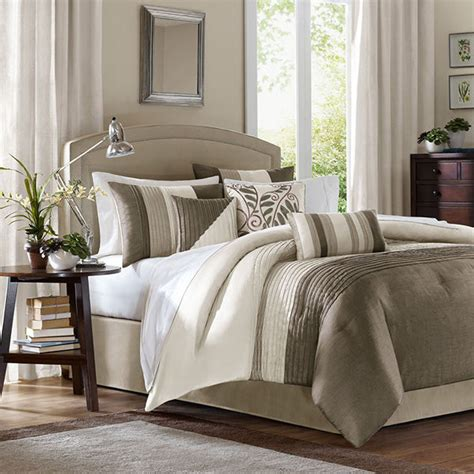 luxury cal king comforter sets pearl ivory taupe bed bag luxury 7pc comforter set cal