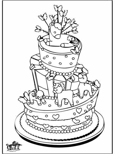 kuchen ausmalbild coloring pages of birthday cakes