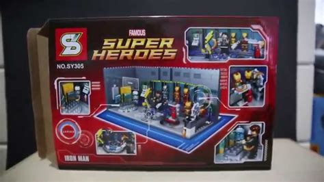 Lego Bootleg Ironman Minifigure 03 lego marvel superheroes iron of armors sheng yuan bootleg sy305 review