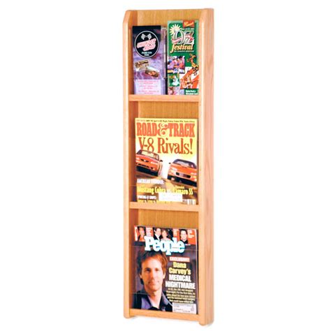 Magazine Wall Racks by Wall Magazine Rack 3 Pocket In Wall Magazine Racks