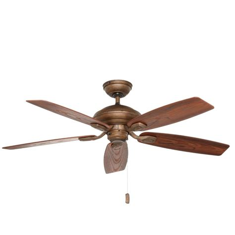 52 inch brookhurst ceiling fan hton bay heirloom 52 in indoor outdoor oil rubbed