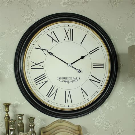 extra large wall clock extra large wooden station wall clock melody maison 174