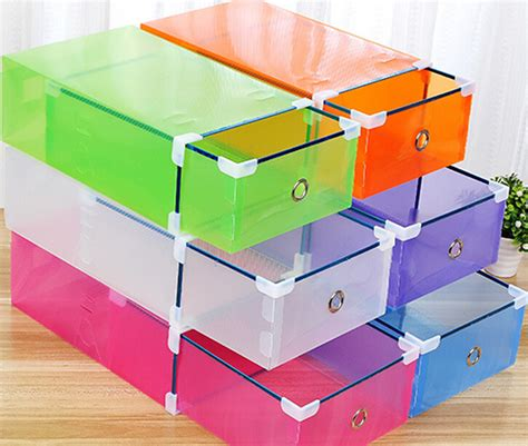 shoebox shoe storage 1 color metal edged drawer type plastic