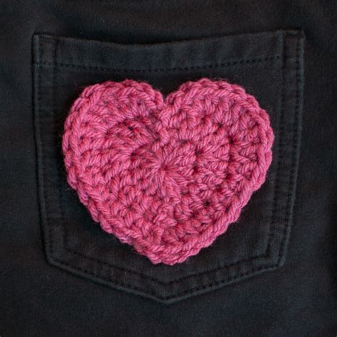 crochet valentines day crochet applique pattern for s