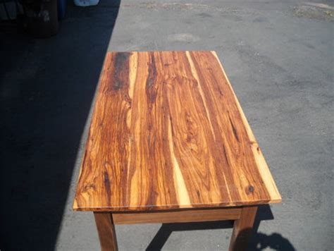 reclaimed hickory  walnut table  coffee