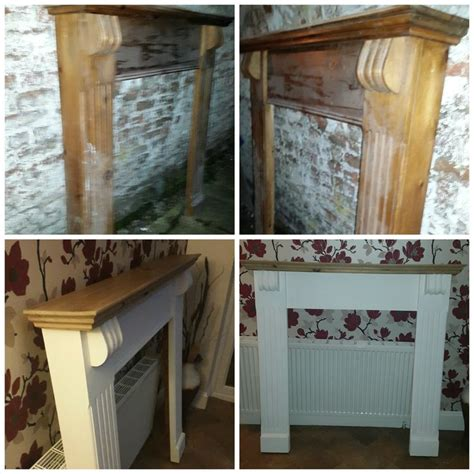 pine fire surround upcycled  annie sloan chalk paint  pure batch turned