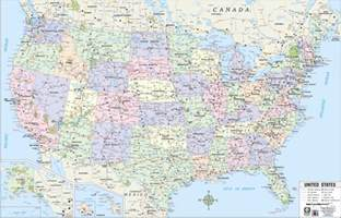 themapstore usa highway wall map blue
