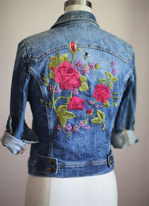 embroidery clothes my diy diy ideas embroidered denim jacket embroidered