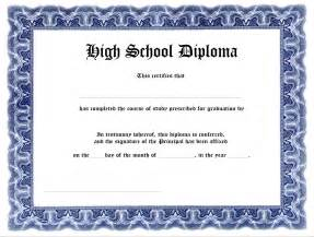free printable high school diploma templates free high school diploma templates template update234