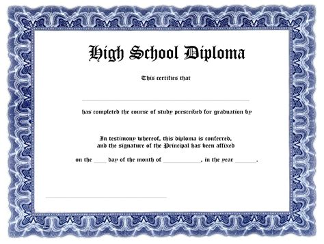 free high school diploma templates template update234