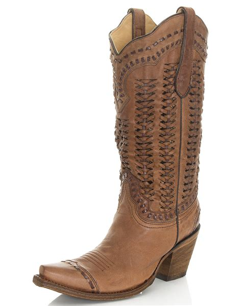corral womans boots corral s 13 quot braided snip toe boots