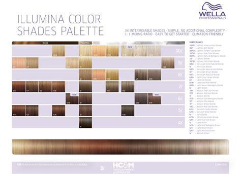 illumina color wella professionals illumina color shades palette 34