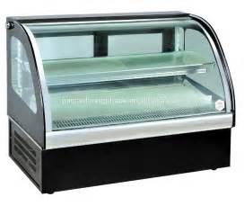 Table Top Glass Display Case Mini Display Freezer Showcase Freezer For Restaurant