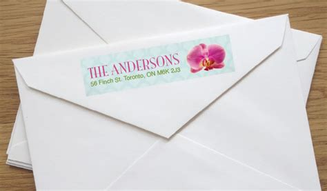 Fancy Address Labels For Wedding Invitations
