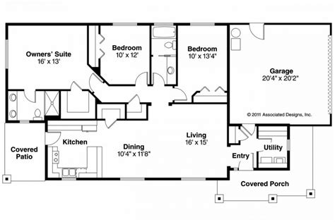 ranch house plans with open concept floor plans ranch open concept house rancher 24x40 with