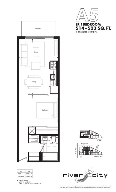 river city phase 1 floor plans 701 king st east toronto 51 trolley cres toronto river