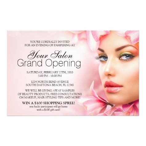 are you opening a new salon or giving your salon design a salon and spa grand opening party flyer spa and salon