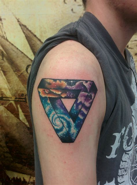 penrose triangle tattoo penrose triangle with space fill done by kennedy at