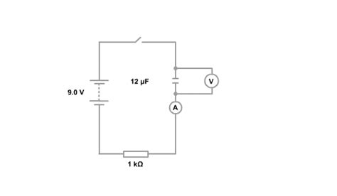 resistor and capacitor in dc circuit higher bitesize physics capacitance revision page2