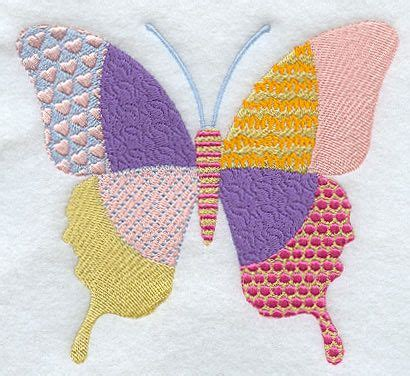 Patchwork Butterfly - 17 best images about machine embroidery on