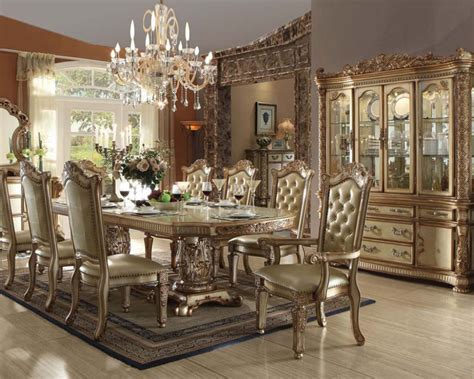 Italian Dining Table Sets Gold Colored Dining Table For Italian Dining Room Decorating Ideas With Tufted Dining