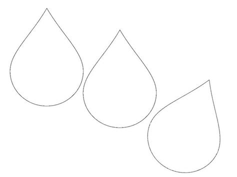 raindrop template drop stencil coloring pages