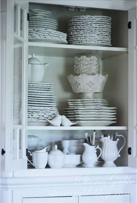 i should be mopping the floor: China Cabinet Styling Ideas