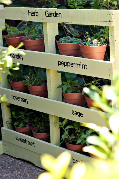 how to build an herb garden make an herb garden from a pallet pinkwhen
