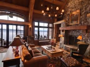 Home And Cabin Decor 17 Best Images About Rustic Great Rooms On Studio Interior Cabin And The Fireplace