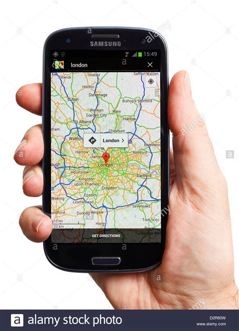 google images mobile google maps on an android samsung galaxy mobile phone