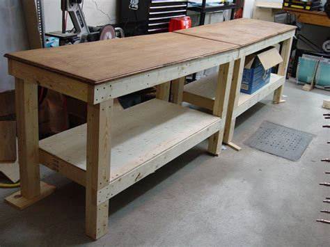 diy garage bench woodwork diy garage workbench pdf plans